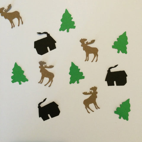 Cabin, Moose, Tree, Confetti, Party Supplies, NatureCuts
