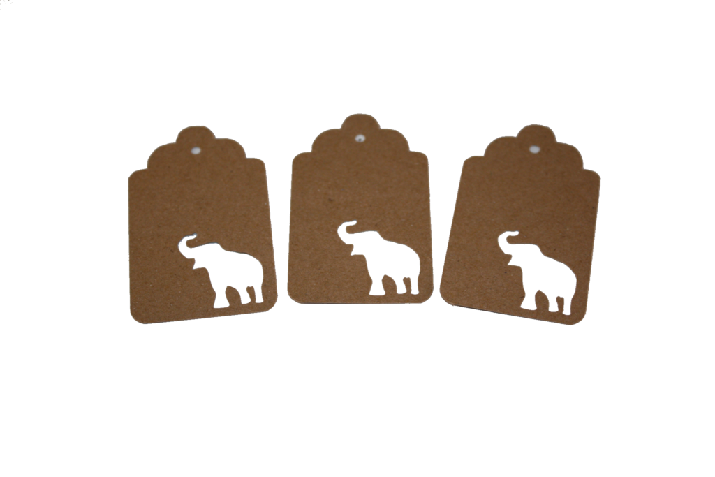 Elephant, Animal, Tag, Gift Tag, NatureCuts