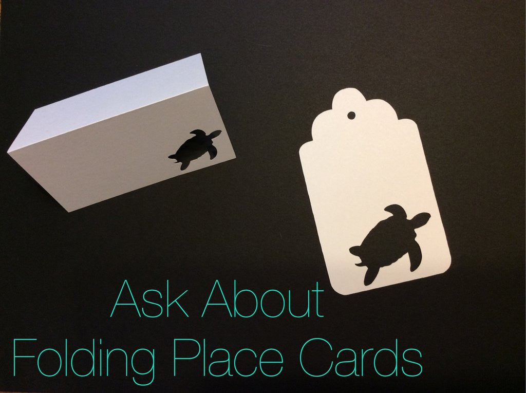 Folding Place Cards, Escort Cards, Place Cards, NatureCuts