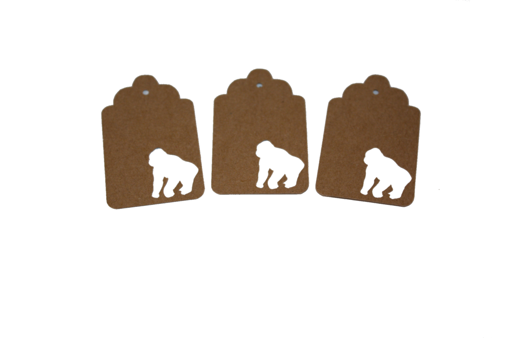 Gorilla, Monkey, Animal, Tag, Gift Tag, NatureCuts