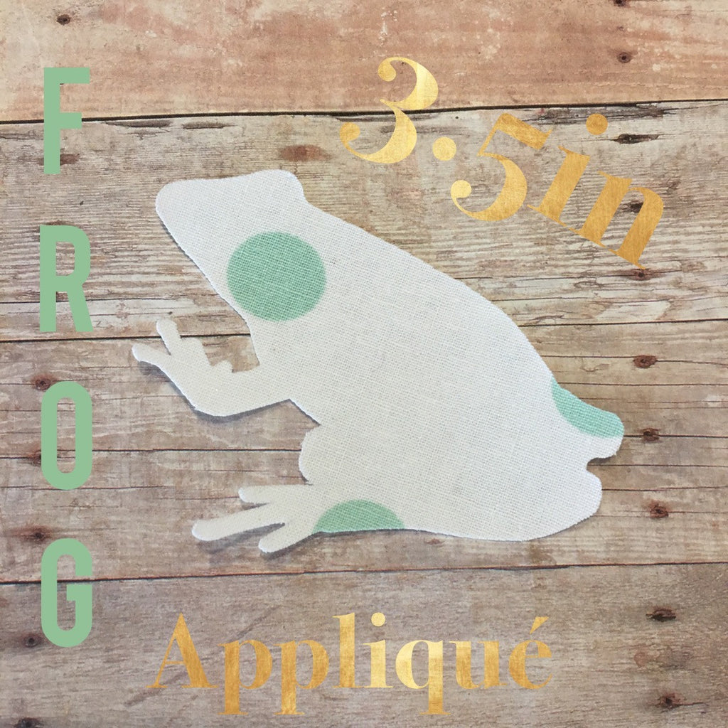 Frog, Iron On, Applique, NatureCuts