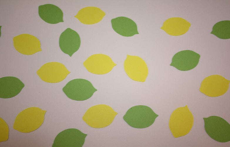 Lemon, Lime, Confetti, Cut Outs, NatureCuts