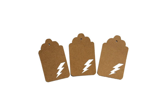 Lighting Bolt Tags
