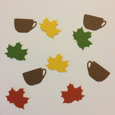 Coffee Cup, Maple Leaf, Confetti, NatureCuts