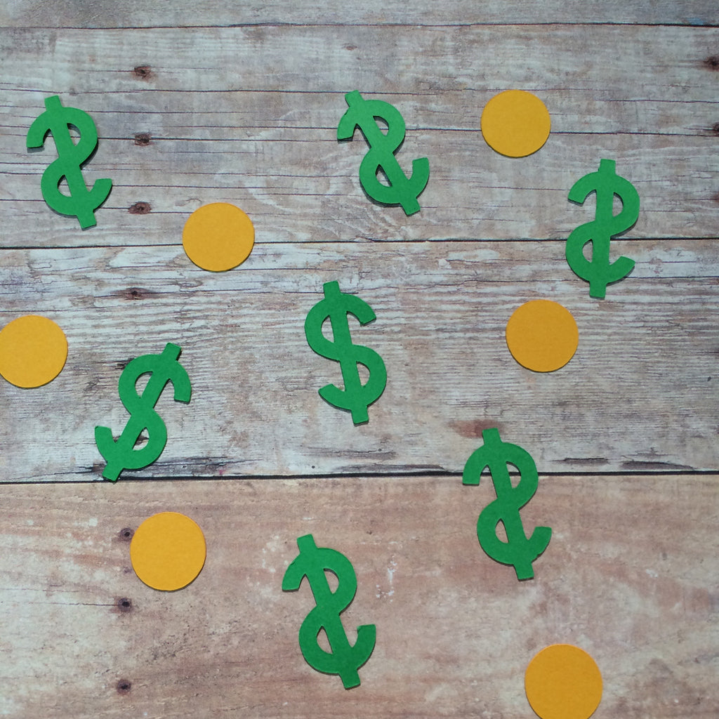 Dollar Sign, Coin, Confetti, Cut Out, NatureCuts