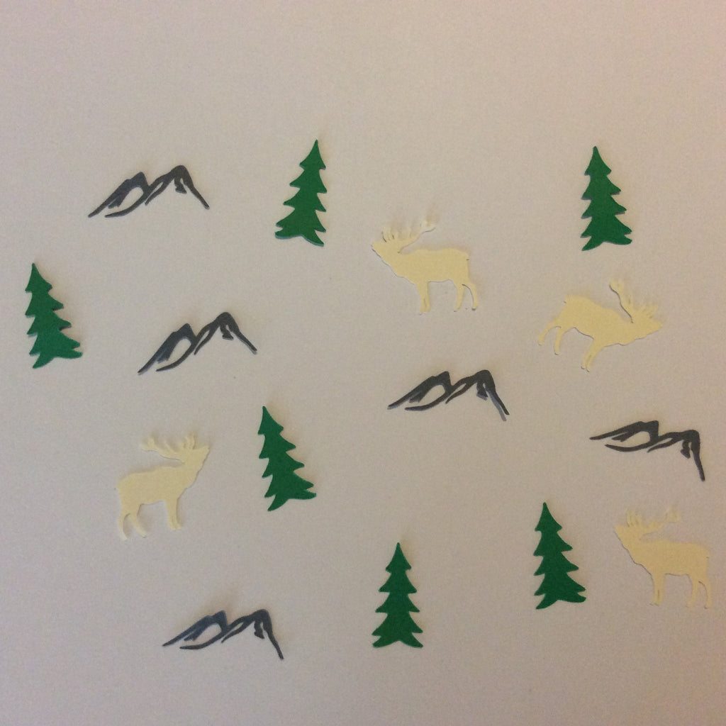 Elk, Mountain, Tree, Confetti, Party Supplies, NatureCuts