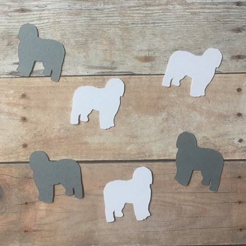 Old English Sheepdog Confetti