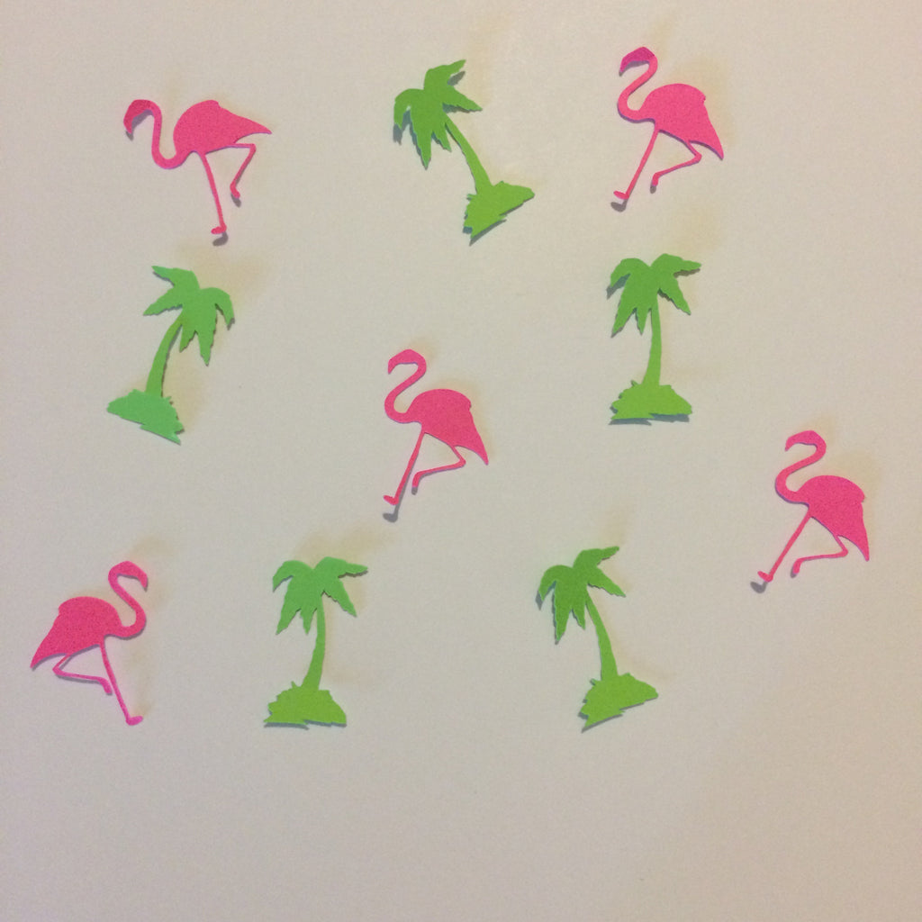Palm Tree, Flamingo, Confetti, party Supplies, NatureCuts