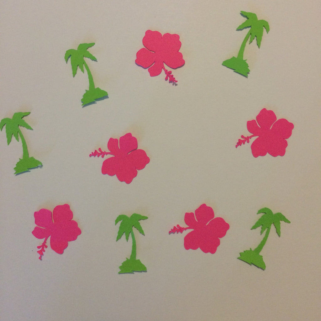 Palm Tree, Hibiscus, Confetti, Party Supplies, NatureCuts