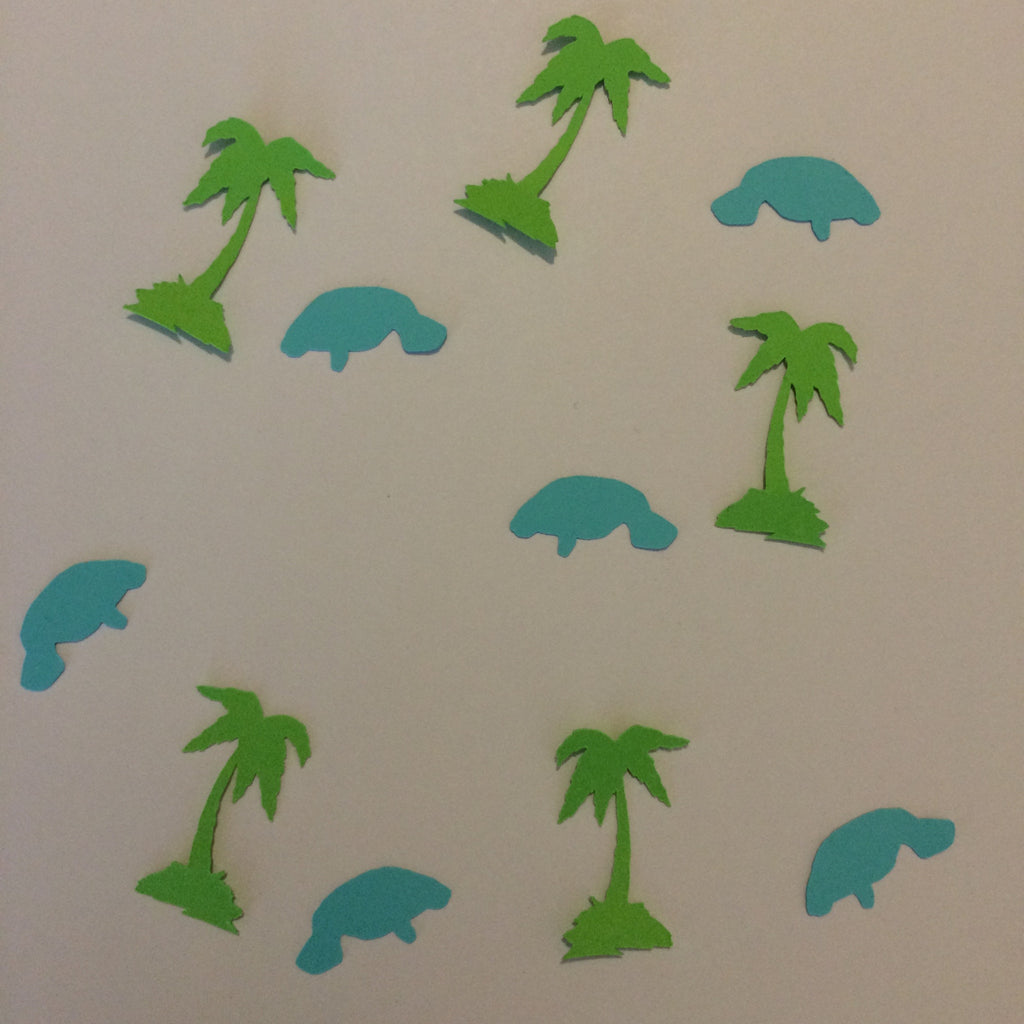 Palm Tree, Manatee, Confetti, Party Supplies, NatureCuts