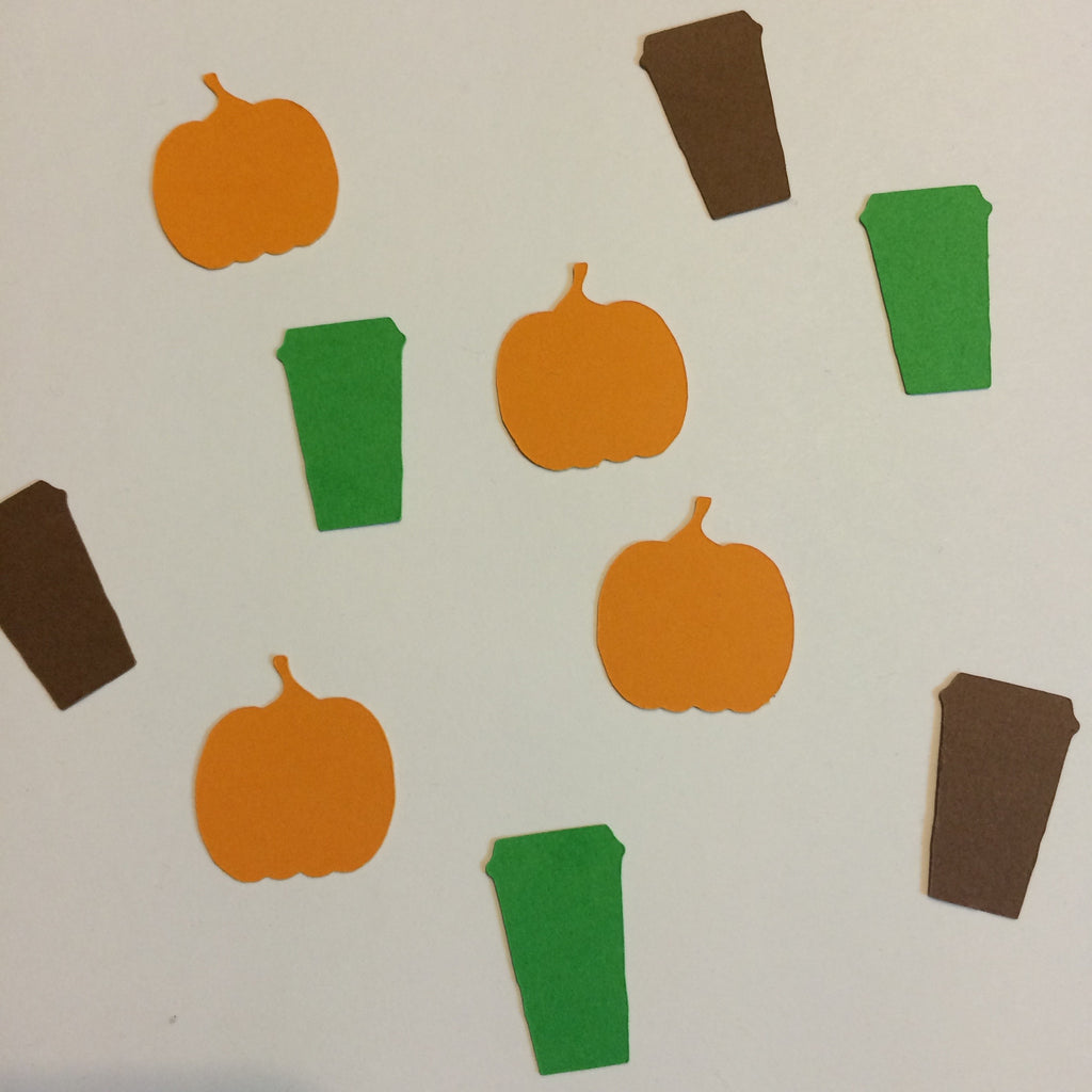 Pumpkin, Coffee Cup, Confetti, NatureCuts