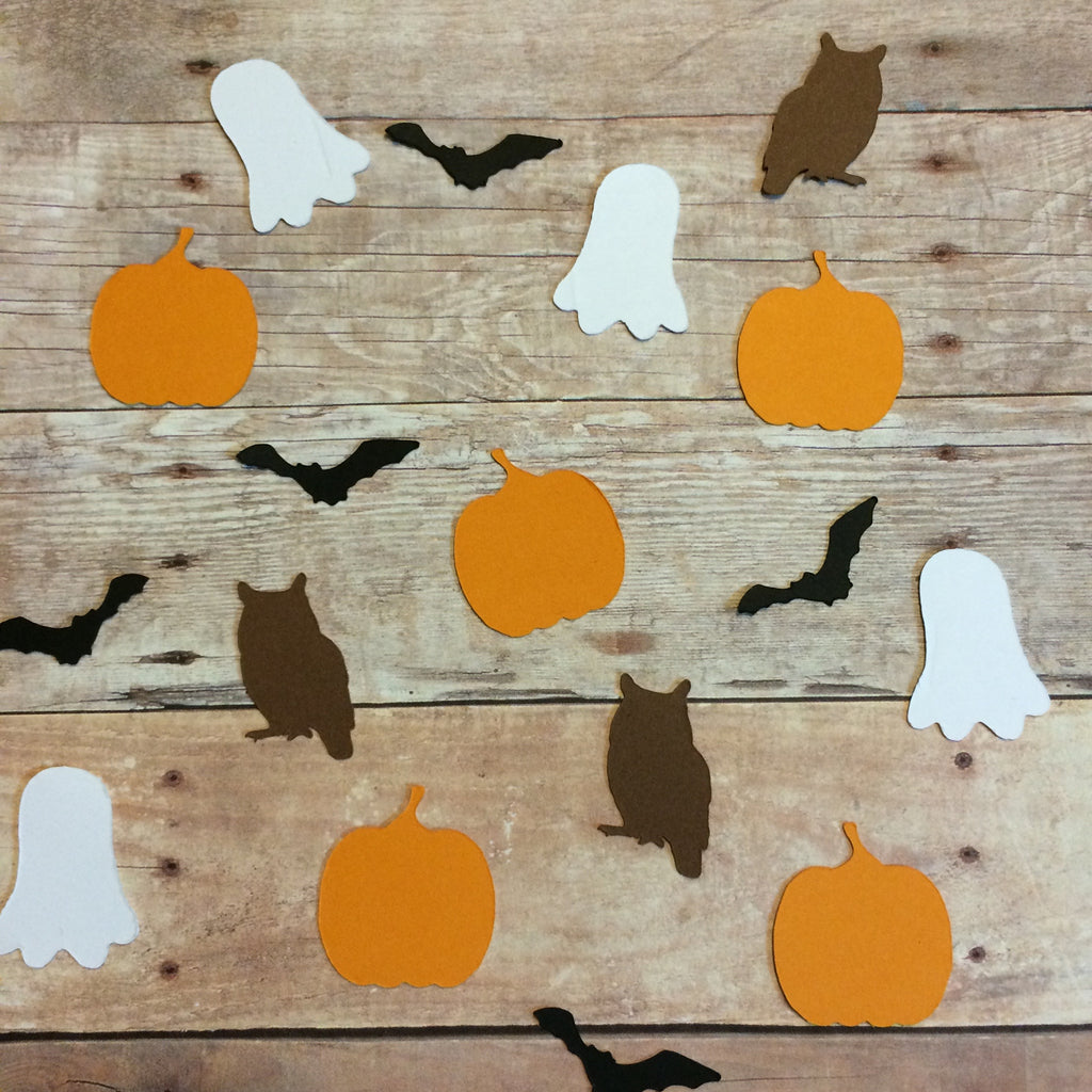 Ghost, Bat, Pumpkin, Owl, Confetti, NatureCuts