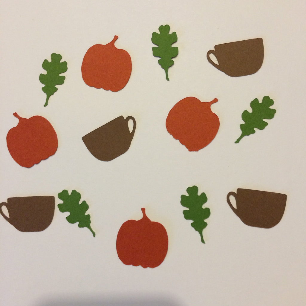 Pumpkin, Oak Leaf, Coffee Cup, Confetti, NatureCuts