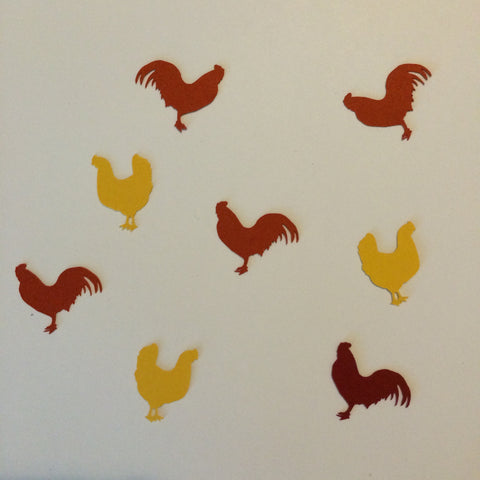 Chicken, Rooster, Farm Animal, Confetti, Party Supplies, NatureCuts