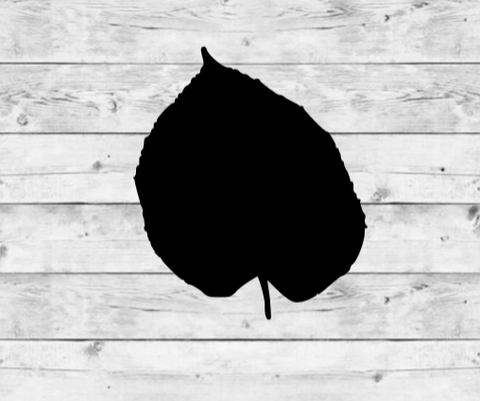 Basswood Leaf Vinyl Stickers