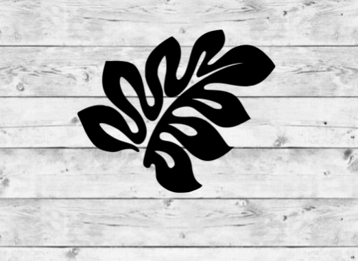 Tropical Leaf 1 Vinyl Stickers