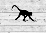 Walking Monkey Vinyl Stickers