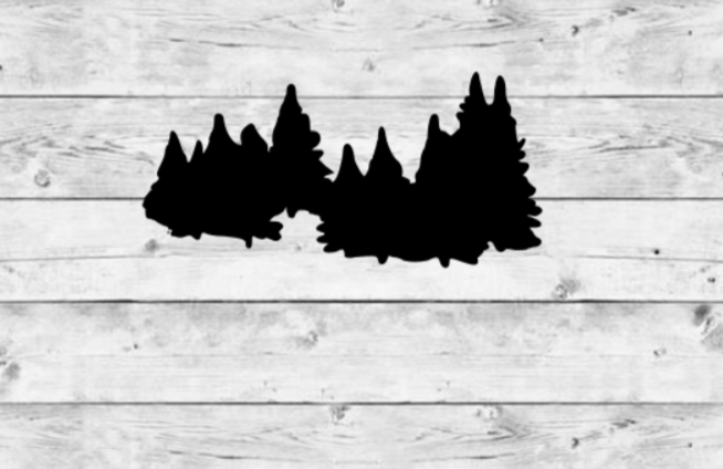 Tree Line Vinyl Stickers