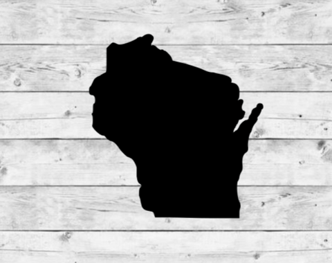 Wisconsin State Vinyl Stickers