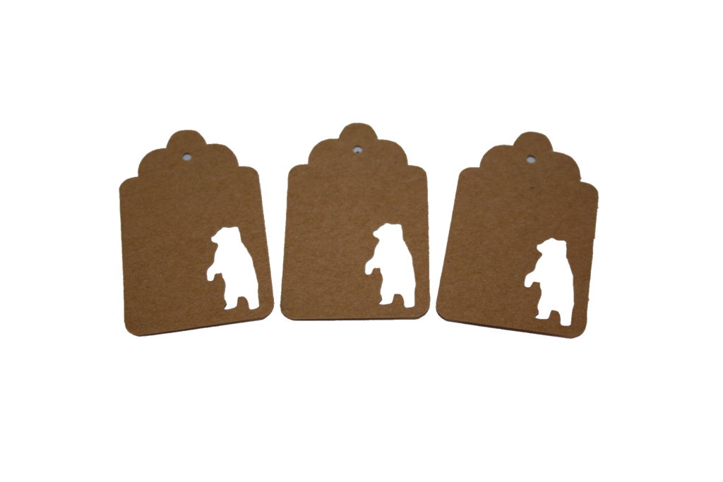 Standing Bear, Bear, Animal, Tag, Gift Tag, NatureCuts