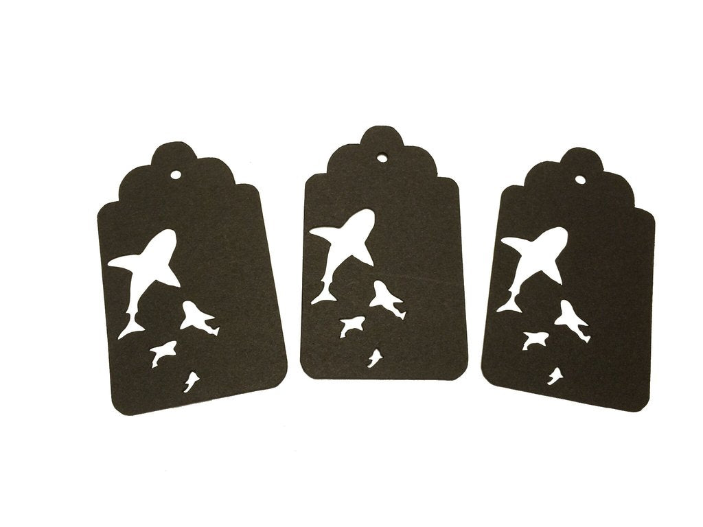 Swimming Sharks Tags