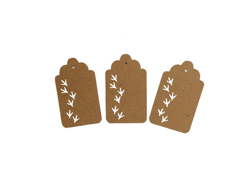 Turkey Tracks, Turkey, Animal, Tag, Gift Tag, NatureCuts
