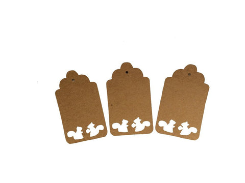 Two Squirrel, Squirrel, Tag, Gift Tag, NatureCuts