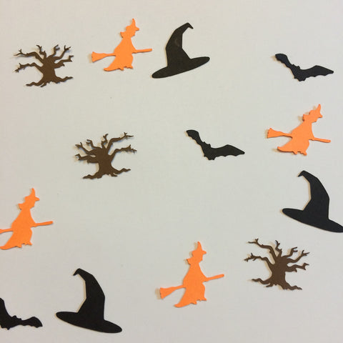 Witch, Witch Hat, Bat, Tree, Confetti, NatureCuts