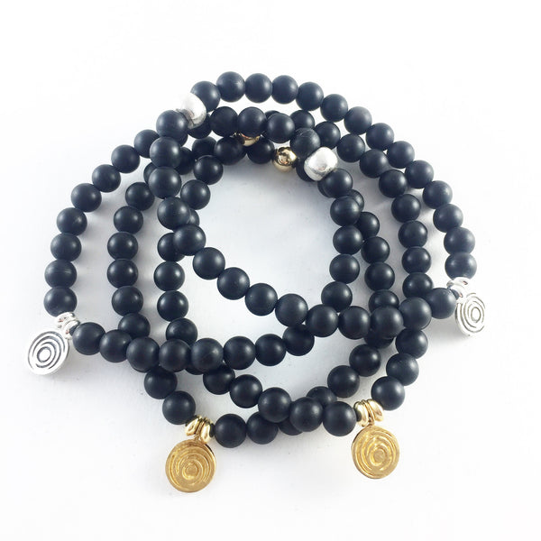 The Awakening Bracelet - Women's Black Onyx & Gold
