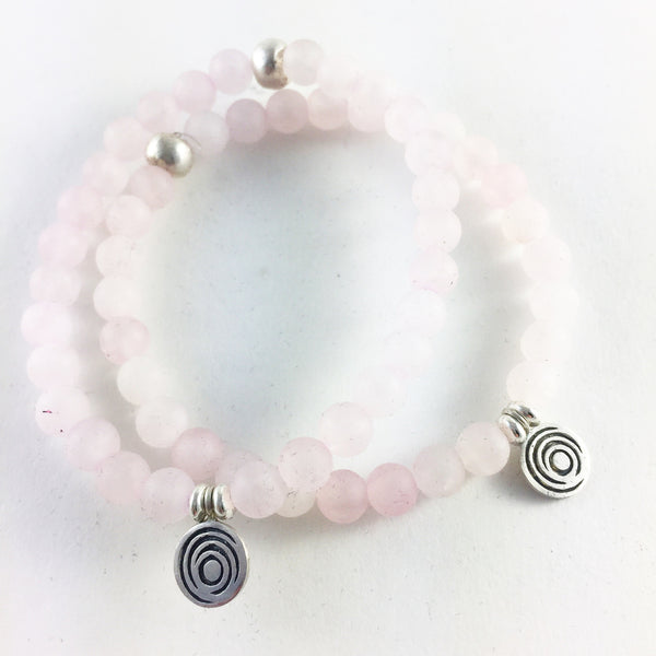 The Awakening Bracelet - Women's Rose Quartz & Silver