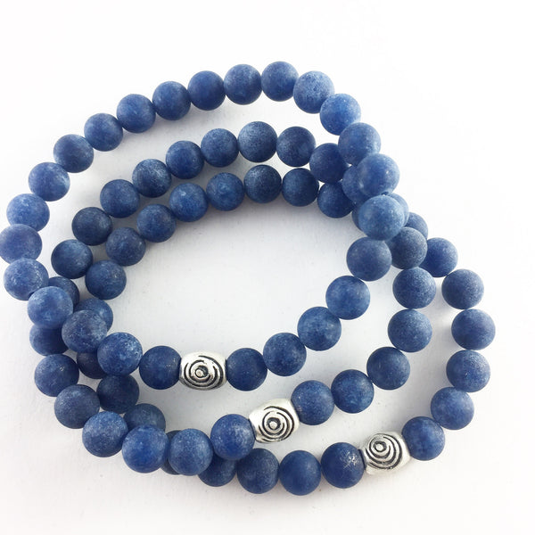 The Awakening Bracelet - Midnight Aqua Lapis & Silver (unisex)