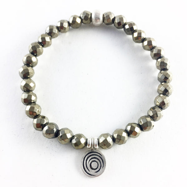 The Awakening Bracelet - Women's Pyrite & Silver