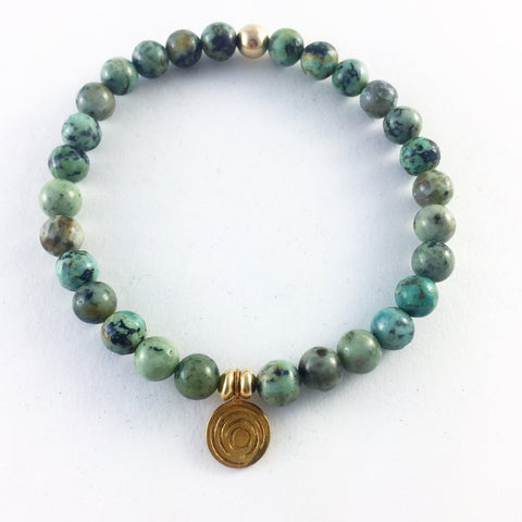 The Awakening Bracelet - Women's Turquoise & Gold