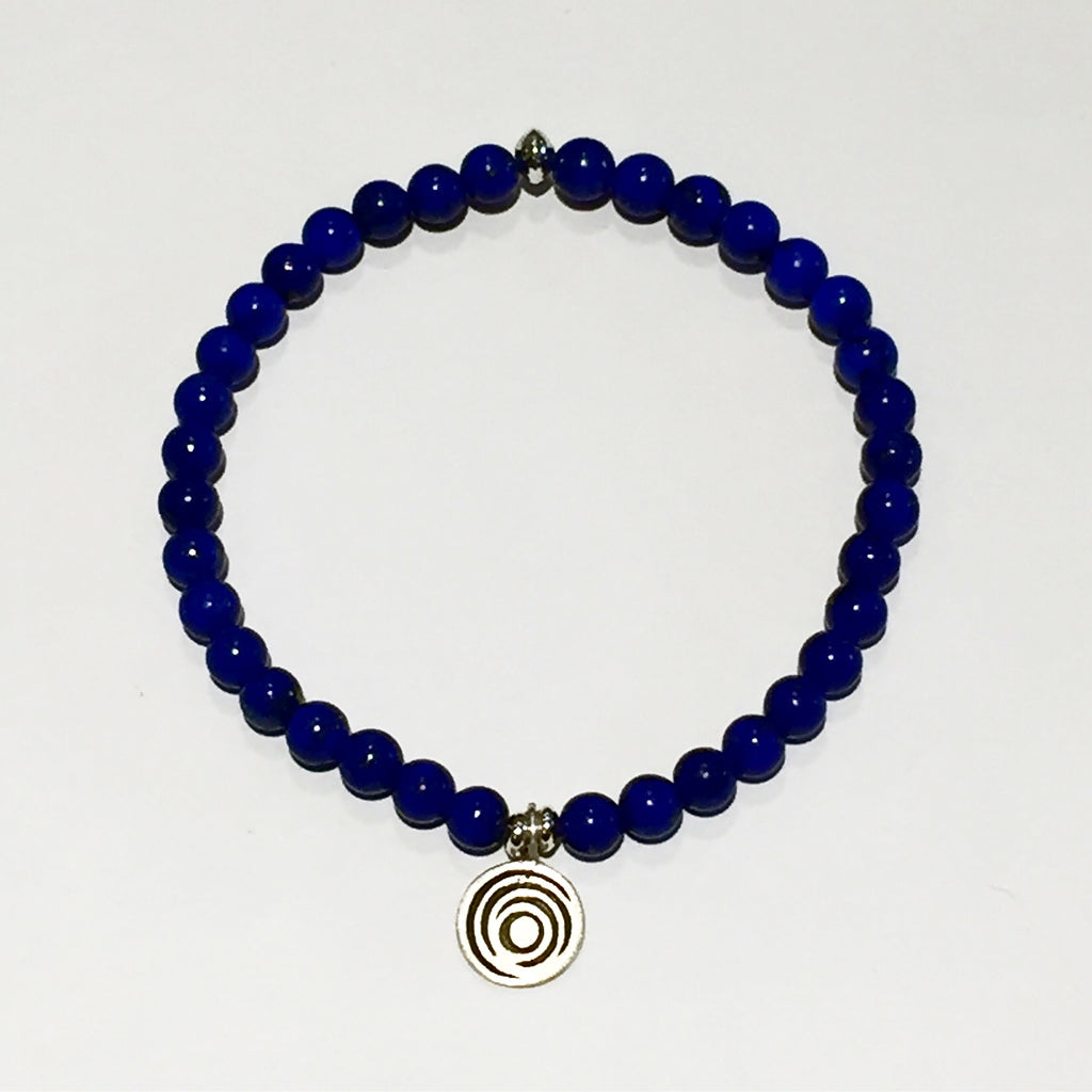 The Awakening Bracelet - Aqua Lapis (small bead) & Silver (women)
