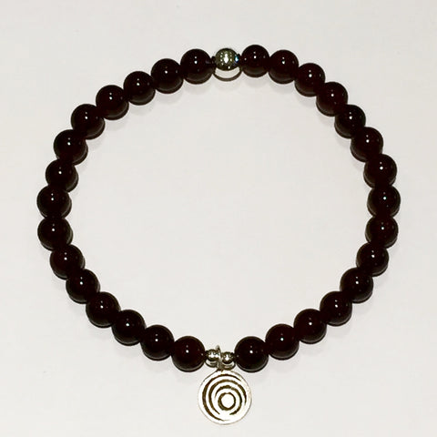 The Awakening Bracelet - Smooth Garnet & Silver (women)