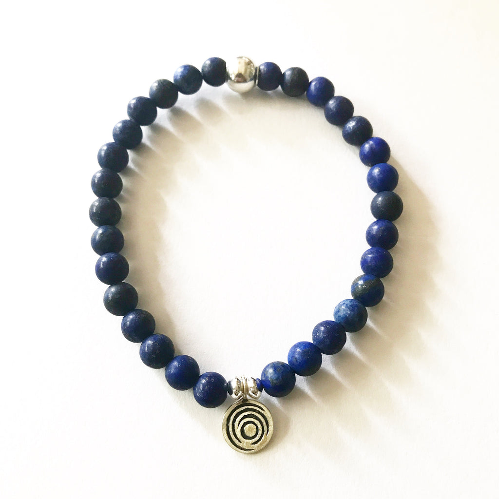 The Awakening Bracelet - Midnight Aqua Lapis & Silver (women)