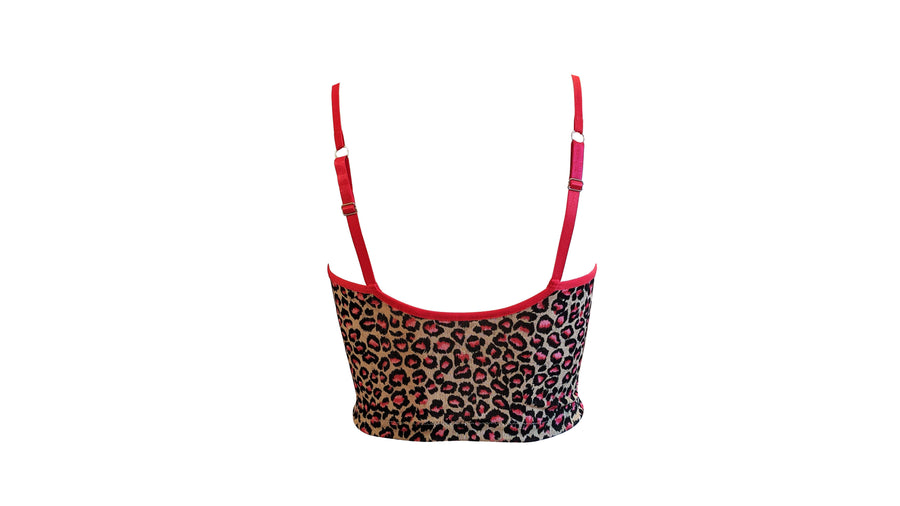 Lacey crop top - leopard