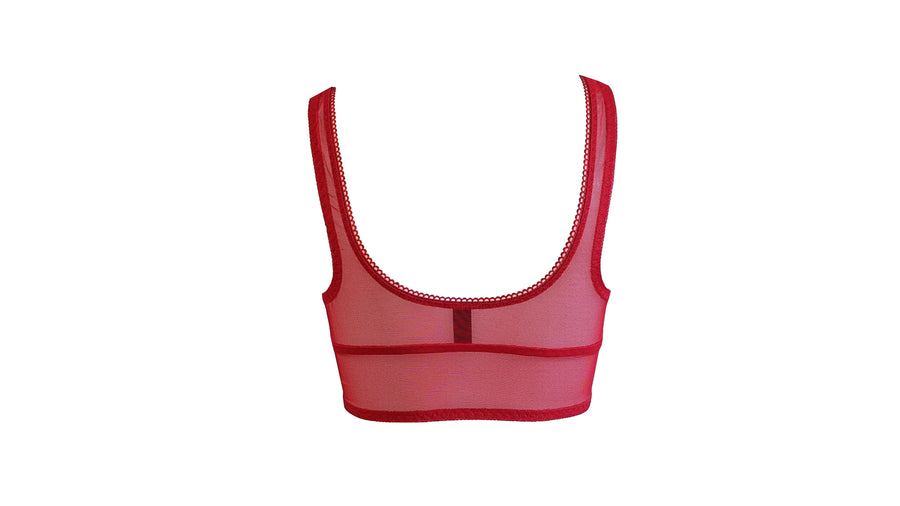 Robbi crop bra - red