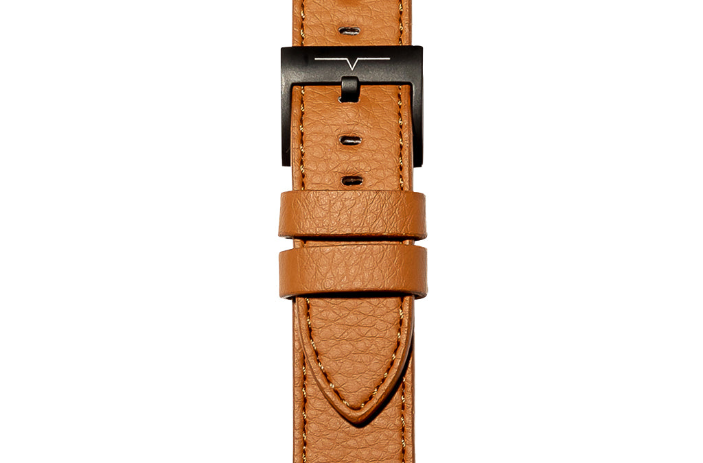 The 20mm Watch Band in Technik-Leather 2.0 in Caramel