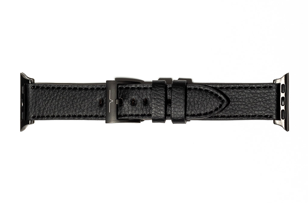 The 20mm Watch Band in Technik-Leather 2.0 in Black