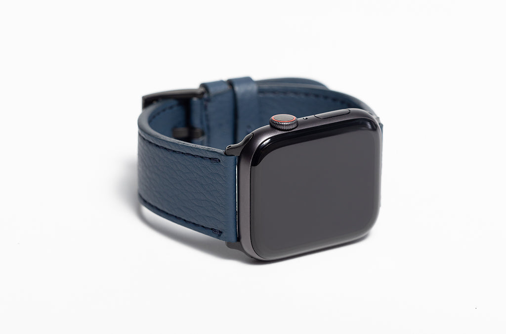 The 24mm Watch Band in Technik-Leather 2.0 in Denim