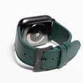 The 24mm Watch Band in Technik-Leather 2.0 in Forest Green