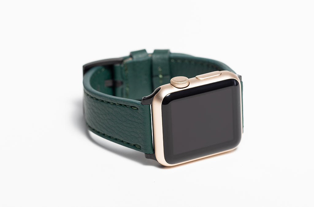 The 20mm Watch Band in Technik-Leather 2.0 in Forest Green