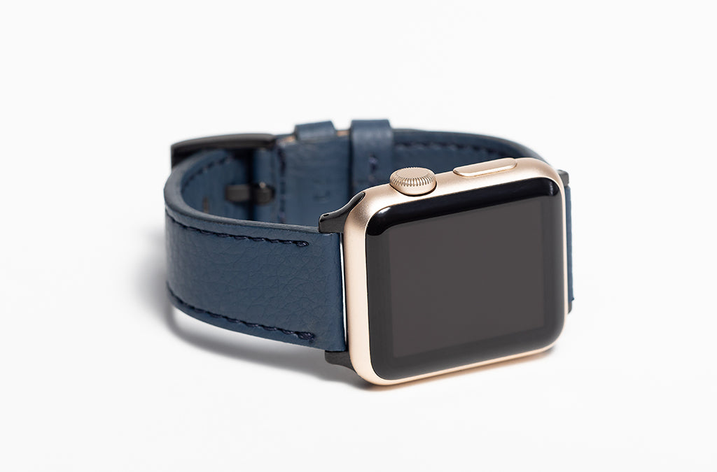 The 20mm Watch Band in Technik-Leather 2.0 in Denim