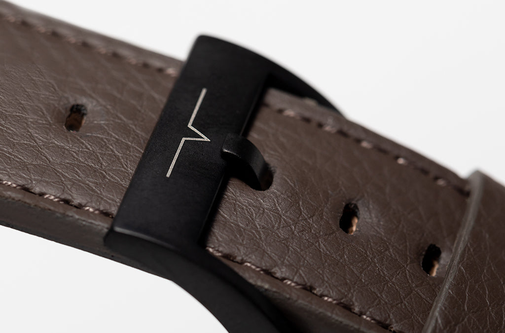 The 24mm Watch Band in Technik-Leather 2.0 in Taupe