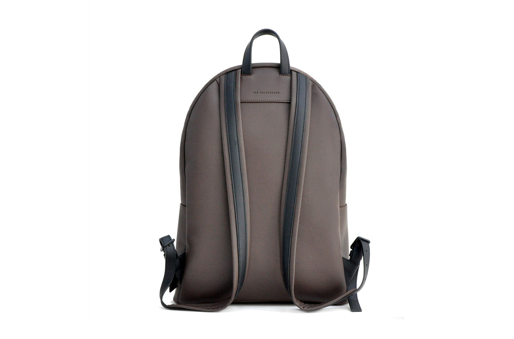 The Backpack in Technik-Leather in Taupe and Black