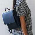 The Mini Backpack in Technik-Leather in Denim