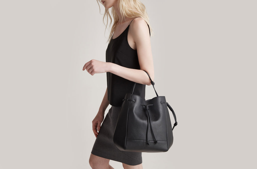The Bucket Backpack in Black