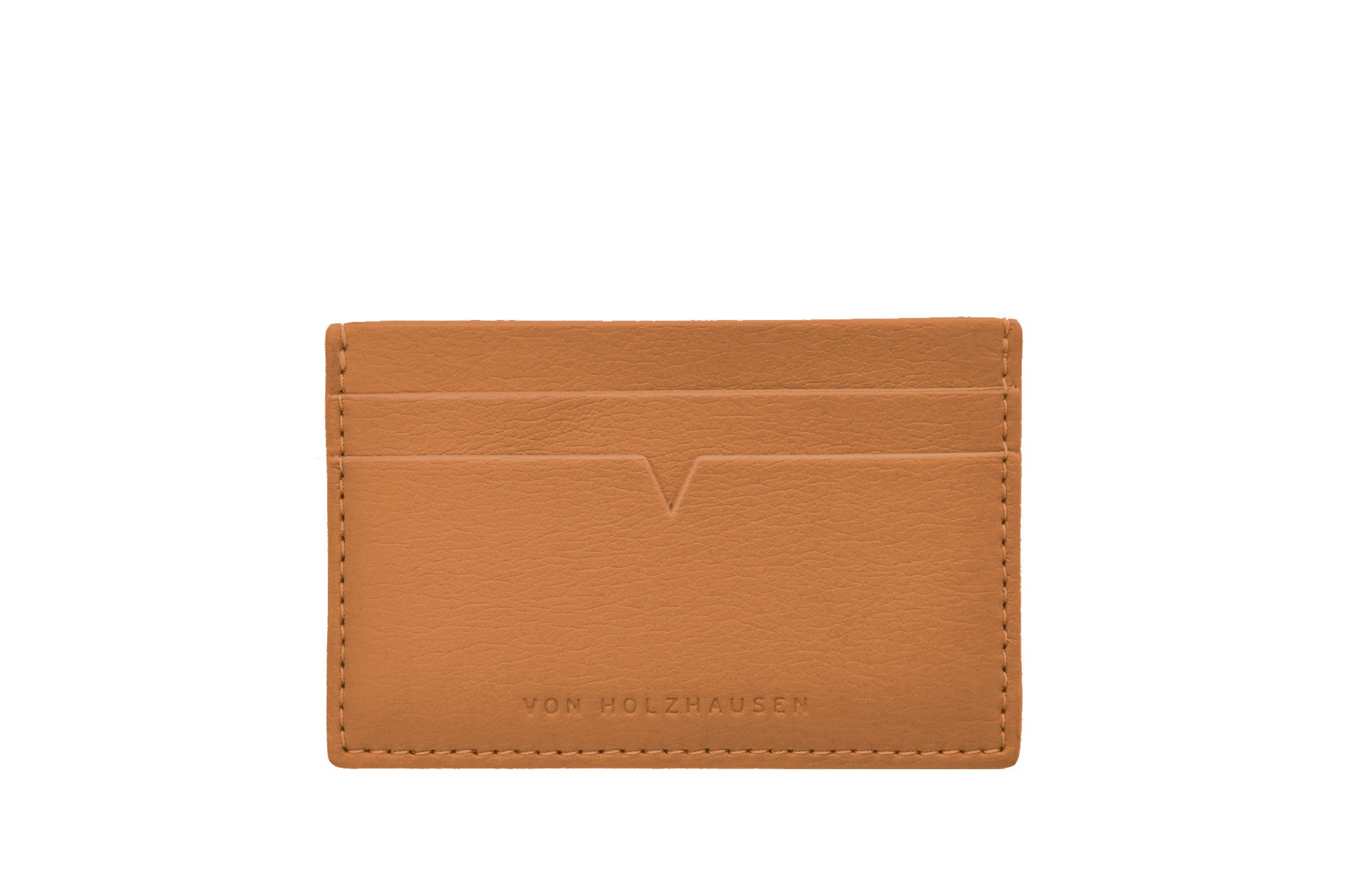 The Credit Card Holder in Technik-Leather in Caramel