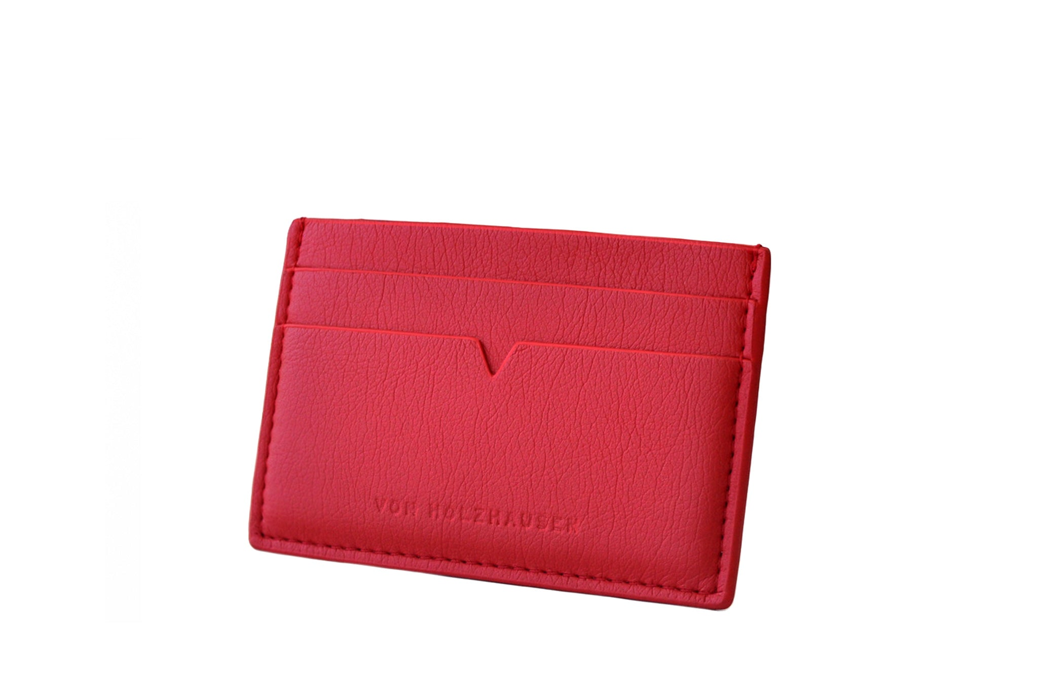 The Credit Card Holder in Technik-Leather in Cherry